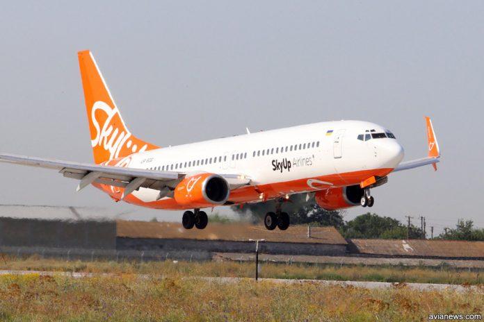 Посадка Boeing 737 SkyUp