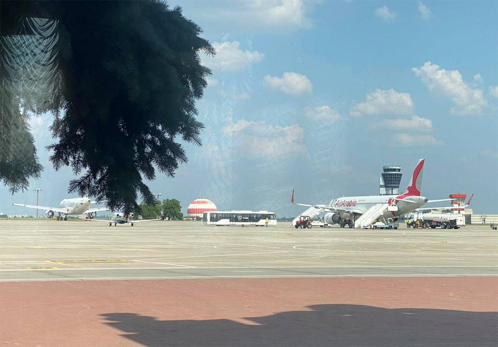 Самолет Air Arabia в Харькове. Первая посадка сюда за 7 лет
