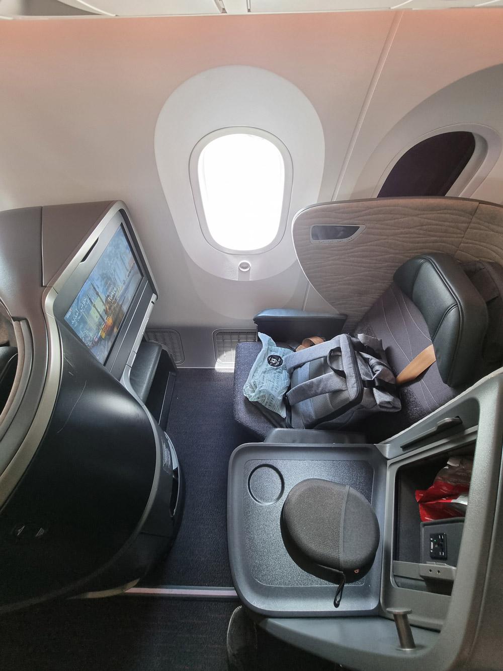 Кресло бизнес-класса в Boeing 787-9 Turkish Airlines