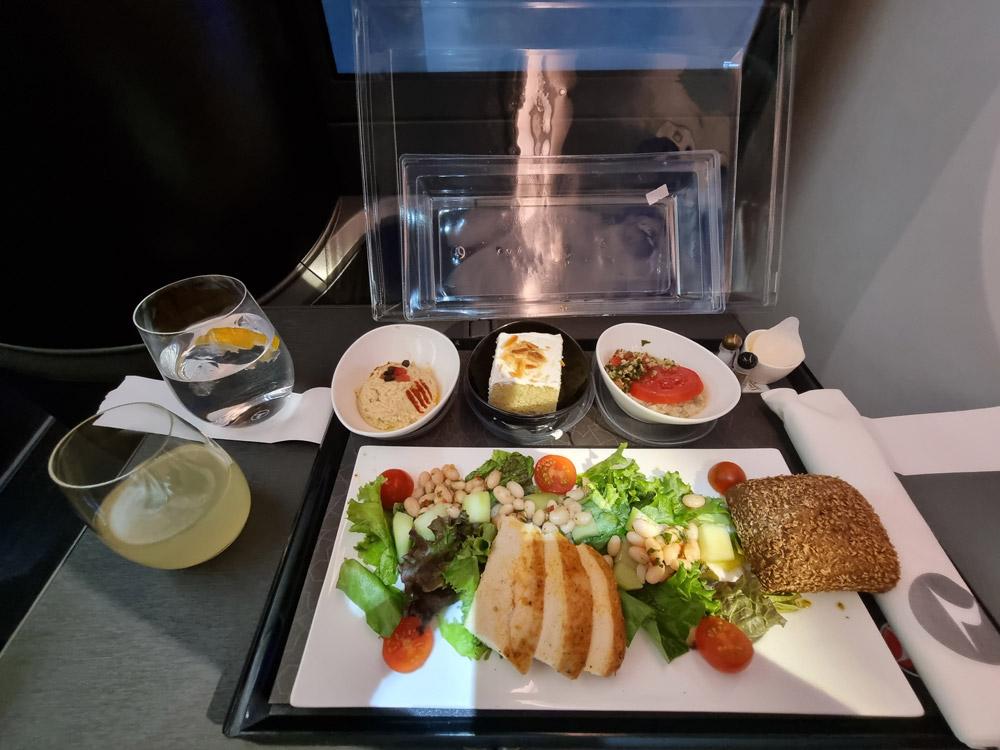 Питание бизнес-класса на рейсе Turkish Airlines Канкун-Стамбул