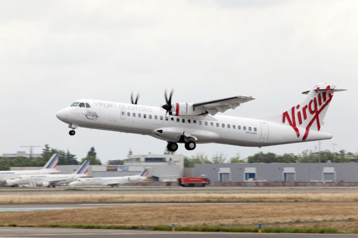 ATR 72 в ливрее Virgin Australia