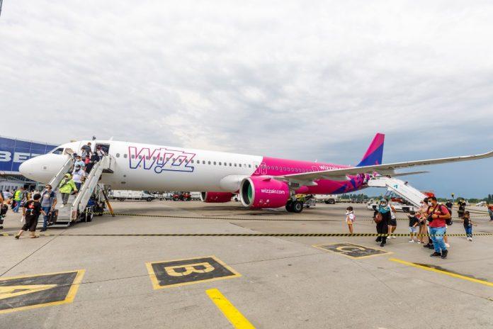 Airbus A321 Wizz Air Abu Dhabi в аэропорту Борисполь