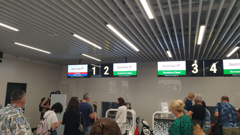 Регистрация на рейс Austrian Airlines в аэропорту Запорожье