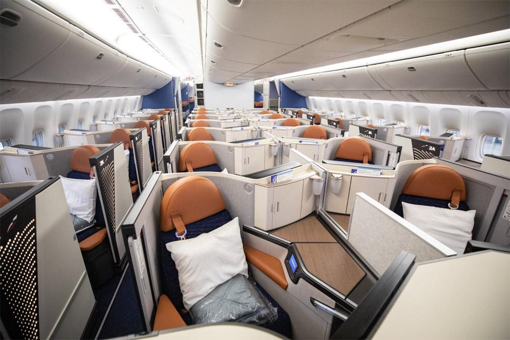 """Общий вид нового бизнес-класса в Boeing 777-300ER """"Аэрофлота"""""""