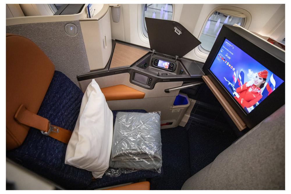 "Кресло бизнес-класса Super Diamond NG на борту Boeing 777-300ER ""Аэрофлота"""