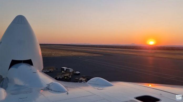Вид с крыши самолета Ан-225 Мрия