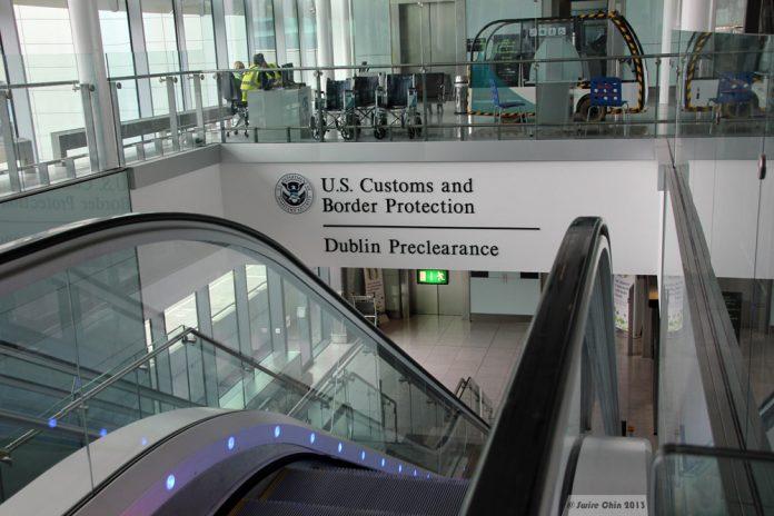 Внешний офис погранично-таможенной службы США с аэропорту Дублина