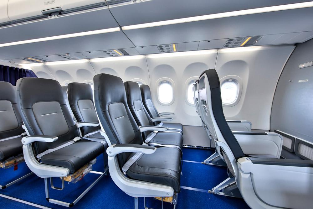 Airbus A321neo Lufthansa с салоном Airspace Cabin