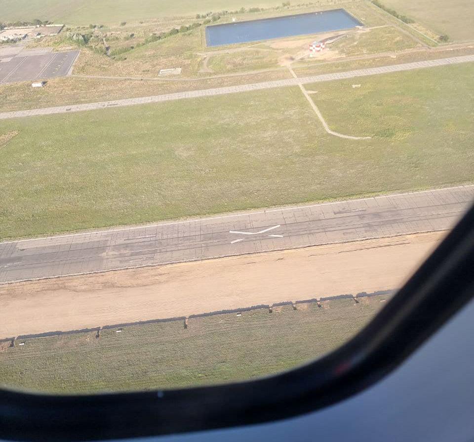 Старая полоса и место под новую магистральную рулежную дорожку в аэропорту Одесса