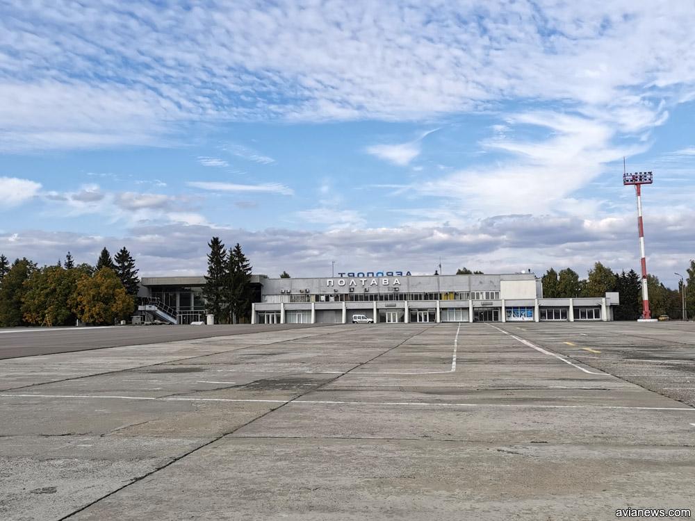 Перед терминалом в аэропорту Полтава построят перрон со стоянками на пять среднемагистральных самолетов