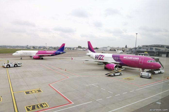 Самолеты Wizz Air в аэропорту